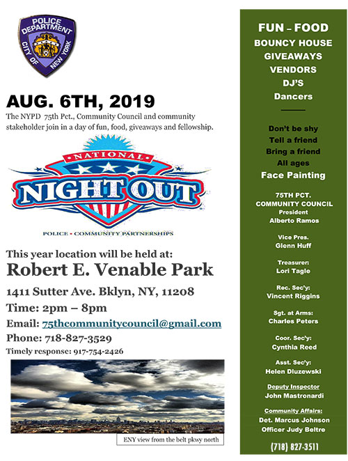 National Night Out - 75th Precinct