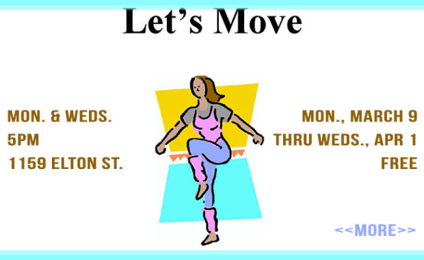 Let's Move! Free Exercise Classes