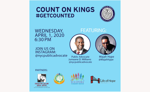 Count on Kings event on Weds., April 1, 2020