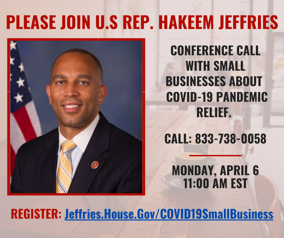 Small business help from U.S. Rep. Hakeem Jeffries