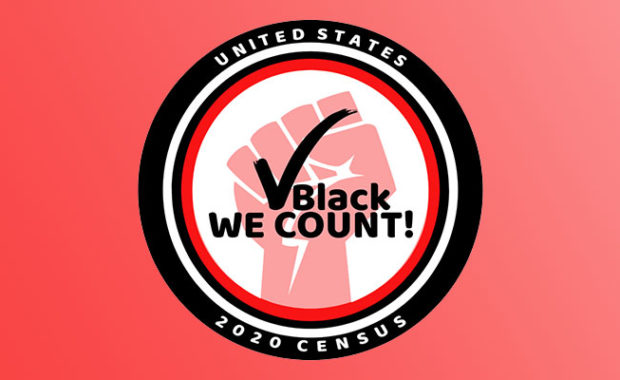 Census 2020 - Check Black - We Count logo